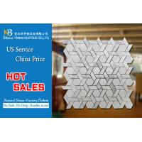 White hexagonal marble mosaic tiles polished wall mosaic floor tile decoration Manufactures