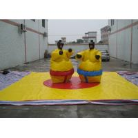 Nontoxic PVC Tarpaulin Inflatable Sumo Street Games With Helmets N Gloves Manufactures