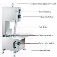 Electric Kitchen Meat Band Saw , Butchers Meat Cutting Saw Low Noise Manufactures