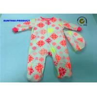 China Comfortable Texture Baby Pram Suit Fluorescence AOP Baby Long Sleeve Coverall on sale