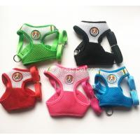 China 2018 new pet products colorful mesh dog harness with doggies, small dogs pet harness on sale