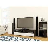 Buy cheap E1 MDF White And Black Showcase Tv Entertainment Unit , 2.4 Meters Length from wholesalers