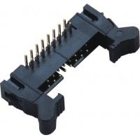 90°DIP Ejector Latch Header Male 16 Pin Idc Connector 2.00mm Pcb Pin Header Manufactures