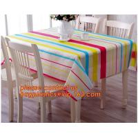 China Table cloth PVC non-woven cloth waterproof cloth mat oil proof plastic tablecloth table clothdigital printed printed pvc on sale