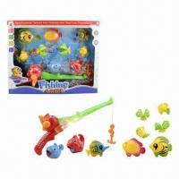 10-piece Electronic Fishing Game Toys with 1 Piece Fishing Rod and 9 Pieces Fishes  Manufactures