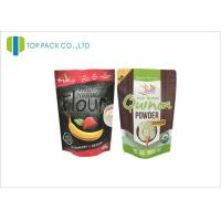 500 G Black Zipper Aluminum Foil Printed Stand Up Pouches Flour Packaging Manufactures