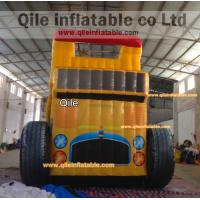 Quality Big trucks slide inflatable aqua slide with safe baffle for sale