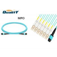 Data Transmission Fiber Optic Patch Cord 12 Core Singlemode Cable 5M Length MPO LC Connector Manufactures