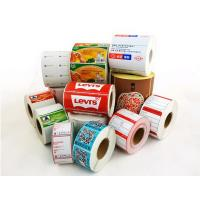 customized Printed direct thermal self adhesive label sticker qixu paper Manufactures