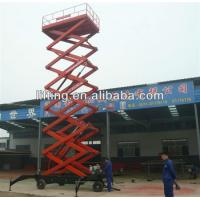 6 - 18m diesel mobile scissor lift platform for 500kg 800kg 1000kg Load capacity Manufactures