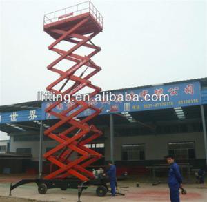 6 - 18m diesel mobile scissor lift platform for 500kg 800kg 1000kg Load capacity