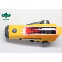 Portable Weatherband Rechargeable Hand Crank Radio Flashlight With AM FM Radio Manufactures