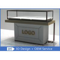 Half Stain Steel Frame Glass Jewelry Display Case With Custom Logo Manufactures