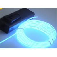 Transparent Blue Green EL Lighting Wire In Roll With 3V - 2 AA Batteries Pack Manufactures