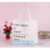 Promotional Ecological Handled Style Canvas Cotton Tote Bags For School Books,Eco white cotton canvas cotton rope handle Manufactures