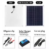 China Small 30W Portable Folding Solar Panel Kits , Solar Energy Panels With Controller on sale
