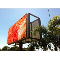 Quality P10 Outdoor Led Digital Billboards High Resolution Full Color Real Pixels for sale