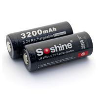 Soshine LiFePO4 26650 Protected Battery: 3200mAh 3.2V Manufactures