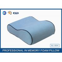China Side Sleeper Small Memory Foam Contour Travel Pillow , Antibacterial Memory Foam Pillow on sale