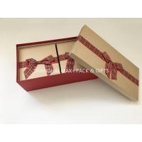 Fancy Empty Xmas Gift Boxes With Ribbon Bow Tied , Candy Christmas Gift Wrap Boxes Manufactures