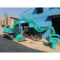 Green Color Mini Pile Driver , Small Pile Driving Equipment Compact Structure Manufactures