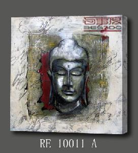 China Wall Decor Buddha Painting, Digital Printing & Handmade Brush Work (RE10011 A) on sale