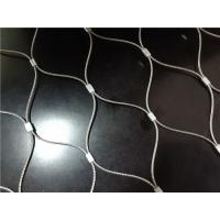 Stainless Steel Ferrule Flexible Cable Mesh Customized Panel Shape Non Flammable Manufactures