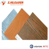 China Hot Sell Colorful Wood Grain Fiber Cement Board For Exterior Wall on sale