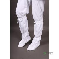 New Arrives Cleanroom Soft Sole Static Dissipative White With Stripe Antistatic ESD Knee Sock Boots Manufactures