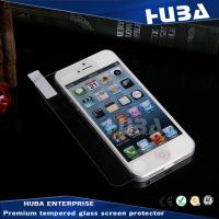 high definition 9H clear iPhone 5 Tempered Glass Protector for cell phones Manufactures