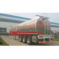 3 axles 33000L / 45000L Oil Tanker Truck/ Petroleum Tank Semi-Trailer  ,Stainless steel Manufactures