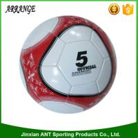China China promotional small size silkscreen printing red and white color machine sitiched size 2 pu street soccer ball on sale