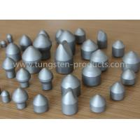 YG11 Tungsten Carbide Mining for Rock / Oil Drilling , Tungsten Carbide Buttons Tips Manufactures