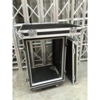 9mm Thickness Plywood Black 12U Amplifier Anti shock Rack Flight Case , 9/12 mm thickness Manufactures