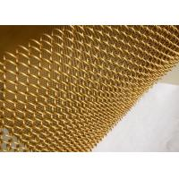 Metal Coil Type Decorative Wire Mesh, Aluminum Coil Wire Fabric For Room Drapery Manufactures