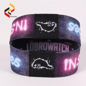 Reusable custom woven fabric RFID NFC wristband bracelet Manufactures