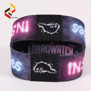 RFID Elastic Stretch bracelet QR code printed RFID stretch wristband Manufactures