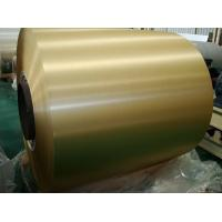 Brush Finish Gold Color Coated Aluminum Coil With High Corrosion Resistance Manufactures