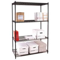 Freestanding Commercial Wire Shelving Rack Epoxy Powder Coating Manufactures