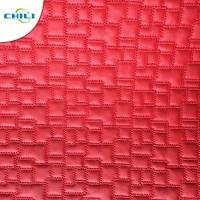 China Synthetic Leather Material  Embroidered Shoe leather on sale