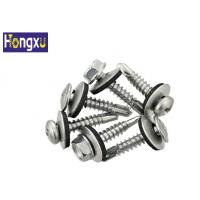 Buy cheap EPDM Stainless Steel Flat Washers Galvanized Black Color For Self Drilling Screw from wholesalers
