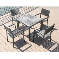 New design Poly Plastic wood Aluminium chairs and table Hotel Outdoor Garden Patio chair Manufactures