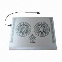 Notebook and Laptop Cooling Pad with 70 x 15mm Fan, Measures 330 x 260 x 32mm Manufactures