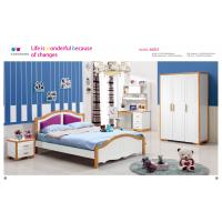 Buy cheap Mediterranean style latest wooden bed designs kids bedroom furniture 6603B from wholesalers
