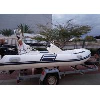Bright Inflatable Dinghy , Motorised Inflatable Boat 4 Stroke Engine Manufactures