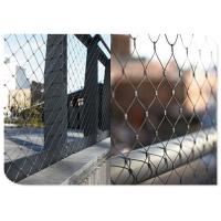 Animal Enclosure Flexible Stainless Steel Wire MeshHand Woven Cable For Zoo Manufactures