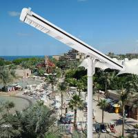 Integrated Led Solar Street Light 8000 Lumen LiFePO4 Battery 120W Aluminum Alloy Body Manufactures