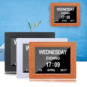 China Digital Clock Invitation Lcd Video Greeting Card 5 Alarm Options 1024*768 Resolution on sale
