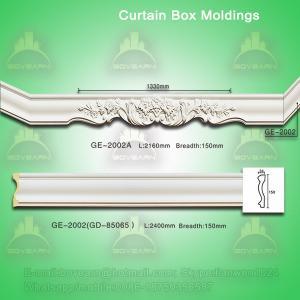 China PU curtain box mouldings on sale