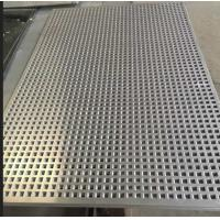 China Light Weight Perforated Metal Mesh With Round Square Hex Hole Pattern on sale
